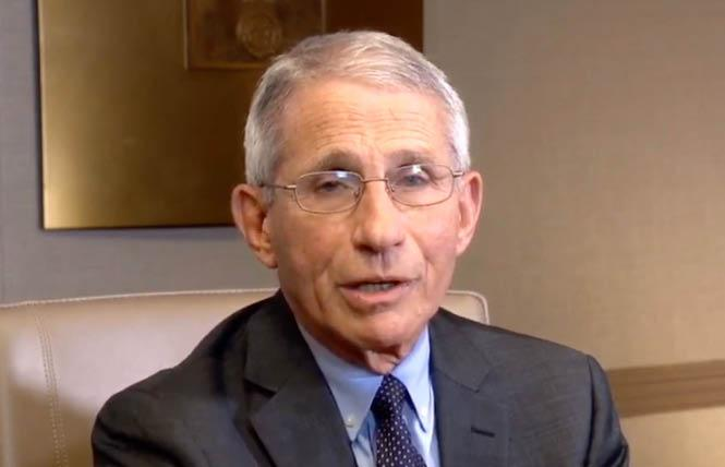 Dr. Anthony Fauci. Photo: Liz Highleyman via screenshot