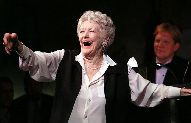 Elaine Stritch in a New York City cabaret concert, mid-2000s.