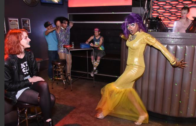 KaiKai Bee Michaels performed at QBar before the venue's fire and the recent closure of all Castro bars. Photo: Gooch