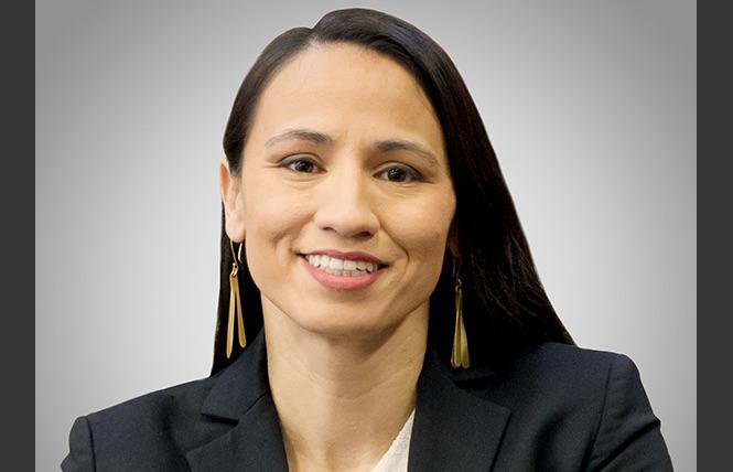 Congresswoman Sharice Davids (D-Kansas) made history in 2018 by becoming the first out member from Kansas and one of the first two Native American women elected to Congress. Photo: Courtesy Emily's List