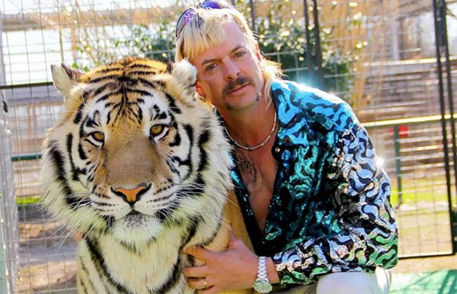 Joe Exotic and friend in Netflix's 'Tiger King: Murder, Mayhem and Madness'