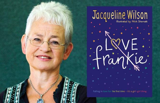 LEFT: Author Jacqueline Wilson  RIGHT: Jacqueline Wilson's 'Love Frankie'