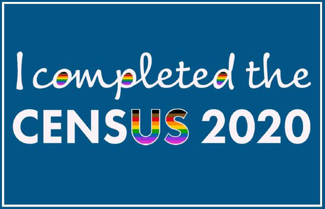 Trans Cabrillo College Trustee Adam Spickler created this image to encourage LGBTQ people to complete the 2020 census. Illustration: Adam Spickler