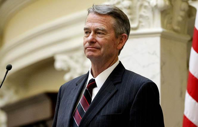 daho Governor Brad Little signed two anti-trans laws that will go into effect in July. Photo: Courtesy AP