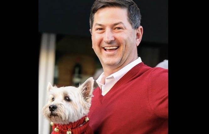 San Diego City Councilman and state Assembly candidate Chris Ward, shown with his dog, Monty, talked with constituents during a virtual town hall about pet-related issues and the novel coronavirus pandemic. Photo: Courtesy Chris Ward