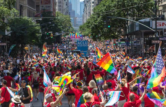 Heritage of Pride announced April 20 that its in-person Pride March and festival have been canceled this year. Photo: Courtesy Heritage of Pride/Christopher Gagliardi