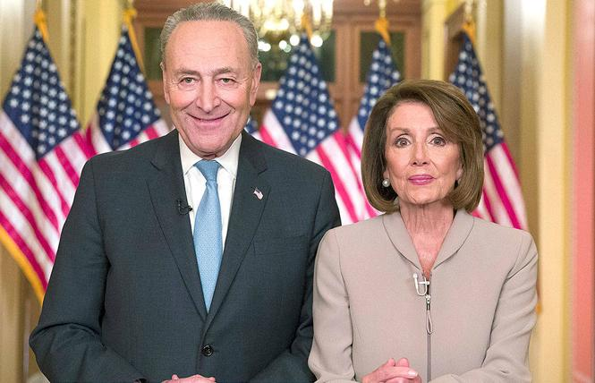 Senate Minority Leader Charles Schumer and House Speaker Nancy Pelosi are working on another federal stimulus package to help small businesses impacted by the novel coronavirus. Photo: Courtesy AP