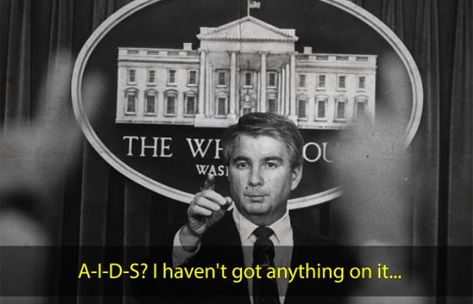 Press secretary Larry Speakes' snide remarks in 1982 at the first press mention of AIDS at a White House briefing.