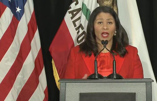 Mayor London Breed said at her April 24 news briefing that the shelter-in-place order set to expire May 3 would likely be extended and it has. Photo: Screengrab