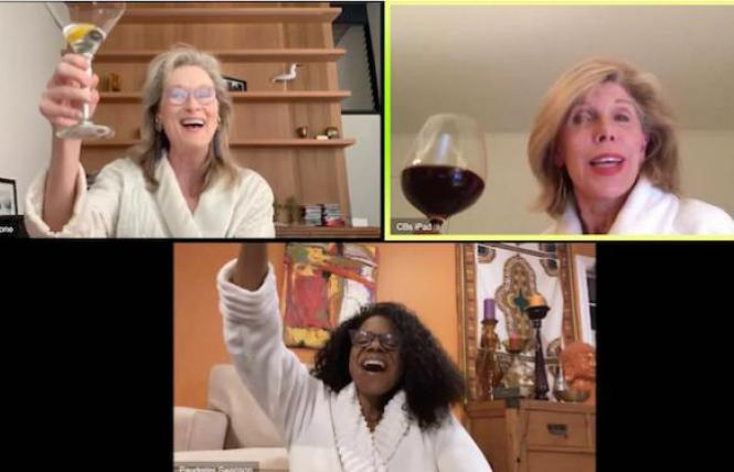 "Meryl Streep, Christine Baranski and Audra McDonald sang ""The Ladies Who Lunch"" from 'Company'"