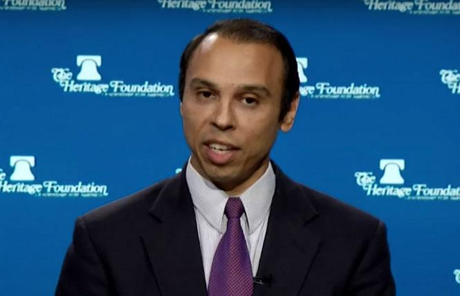 HHS official Roger Severino is alleged by LGBT rights groups to be behind a rule change that would deny LGBTs protections under the Affordable Care Act. Photo: Courtesy CNN