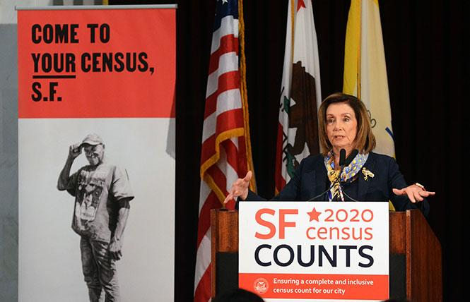 House Speaker Nancy Pelosi was in San Francisco in mid-January urging people to participate in the 2020 census. Photo: Rick Gerharter