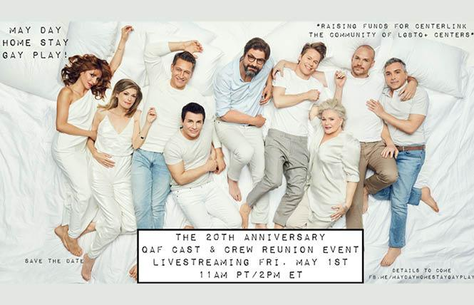 "The cast of ""Queer as Folk"" will gather in an online benefit for CenterLink, The Community of LGBT Centers, Friday, May 1."