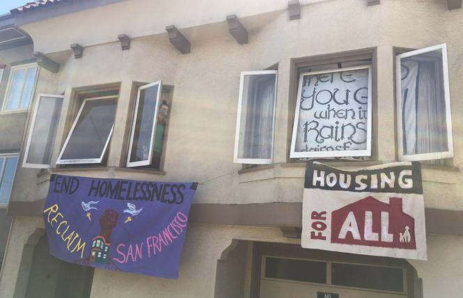 Two homeless women occupied a vacant home in the Castro Friday morning. Photo: Courtesy Reclaim SF
