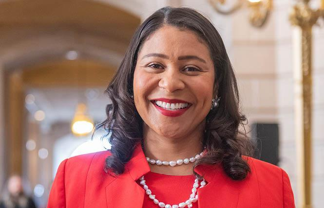 The Harvey Milk LGBTQ Democratic Club issued an apology to San Francisco Mayor London Breed for an email its president sent that used a racist trope. Photo: Jane Philomen Cleland