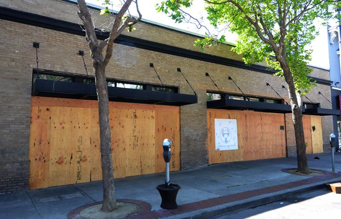 The former Coldwell Banker office in the Castro, boarded up due to the coronavirus outbreak, was considered by the GLBT Historical Society as an interim site for its new LGBT museum. Photo: Rick Gerharter