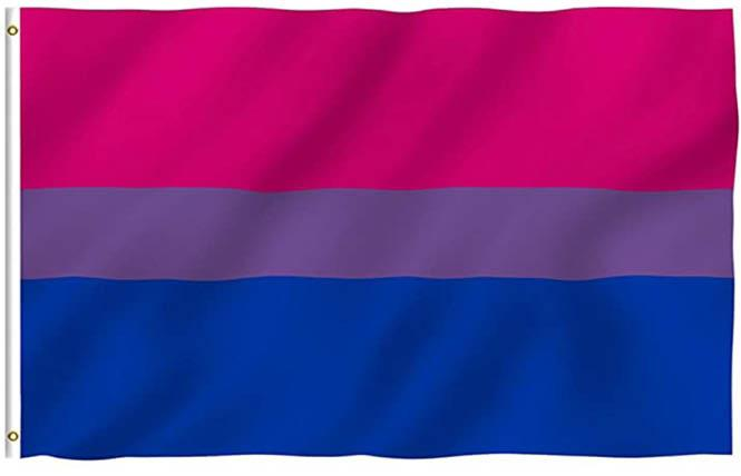 BiNet USA generated controversy recently with tweets about the ownership of the bi Pride flag. Photo: Courtesy Amazon