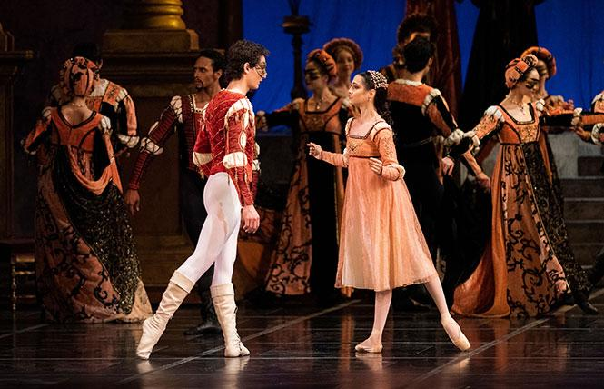 Carlo Di Lanno and Mathilde Froustey as Romeo and Juliet in San Francisco Ballet's production of 'Romeo and Juliet.' Photo: Erik Tomasson/SF Ballet