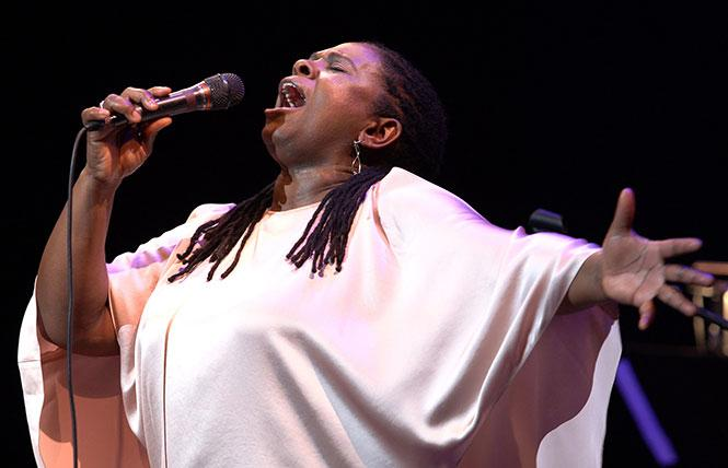 Ruthie Foster performing