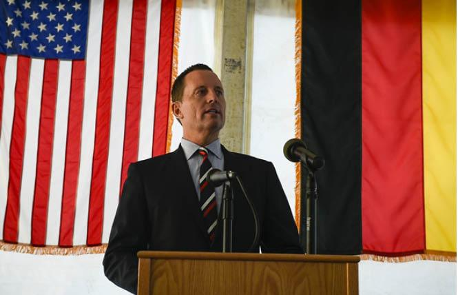 U.S. Ambassador to Germany Richard Grenell plans to step down from his post in the coming weeks. (Photo: Courtesy public domain)