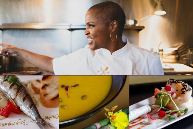 (above) Tonya Holland of Brown Sugar Kitchen. (below) Delish meals from Ladies Who Lunch