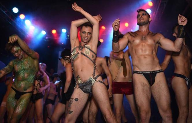 Broadway Bares SF at the DNA Lounge in 2018. photo: Steven Underhill