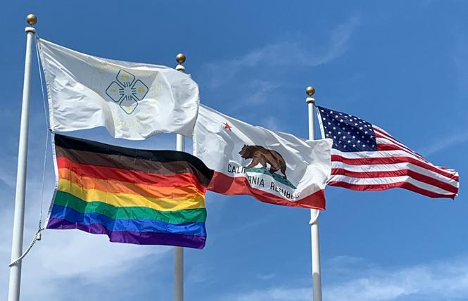 After controversy over the Pride flag last year, the Dublin City Council voted to raise the Philly version of the flag this year for Pride Month. Photo: Courtesy Shawn Kumagai