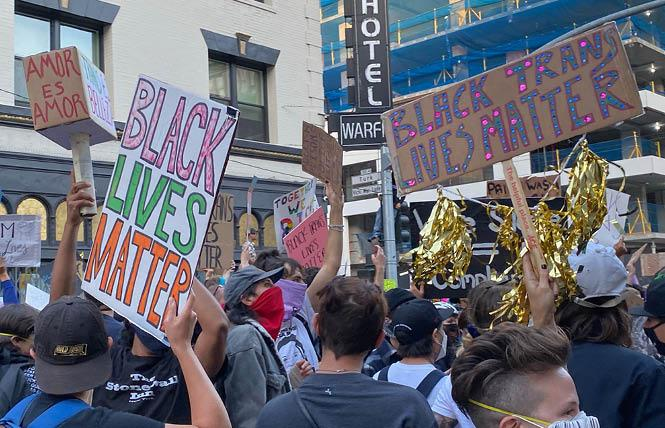 Protesters marched for Black trans rights June 18 in San Francisco. Photo: Liz Highleyman