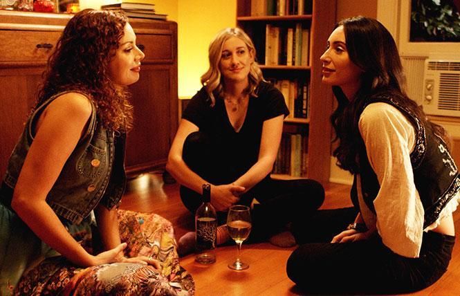Kari Alison Hodge, Rachel Paulson, and Julia Eringer in Good Kisser.