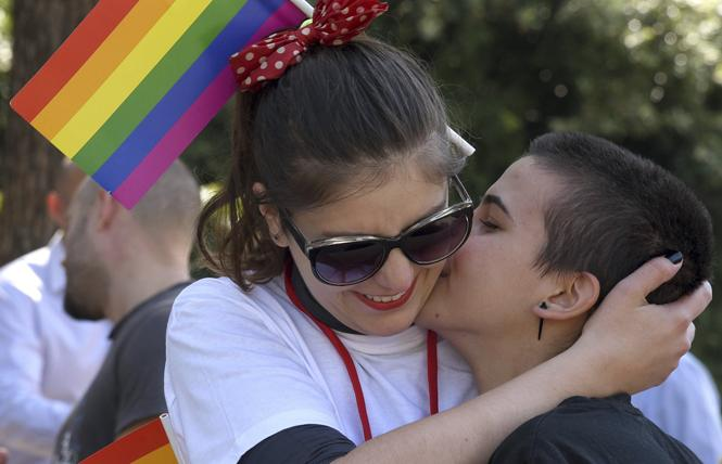 Young people celebrated at a Montenegro Pride event in 2017. Photo: Courtesy AP