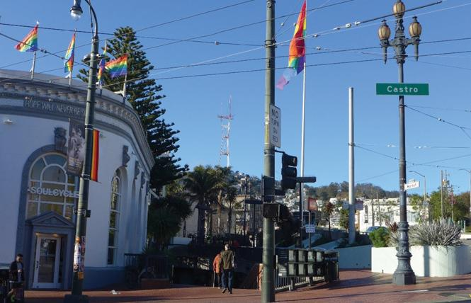 Looking west at Harvey Milk Plaza from Castro Street. Photo: Courtesy TreanorHL