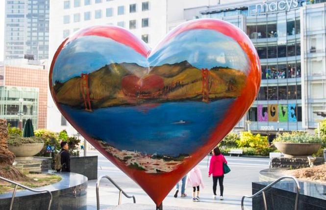 Hearts in San Francisco's call for artists