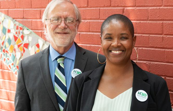 Howie Hawkins, left, and Angela Walker are running as the Green Party's presidential ticket. Photo: Courtesy Howie Hawkins