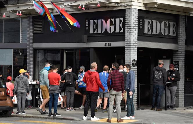 The Edge bar in the Castro was one of several LGBTQ nightlife establishments that came under criticism for alleged racism during a July 30 town hall by the Bay Area Queer Nightlife Coalition. Photo by Steven Underhill