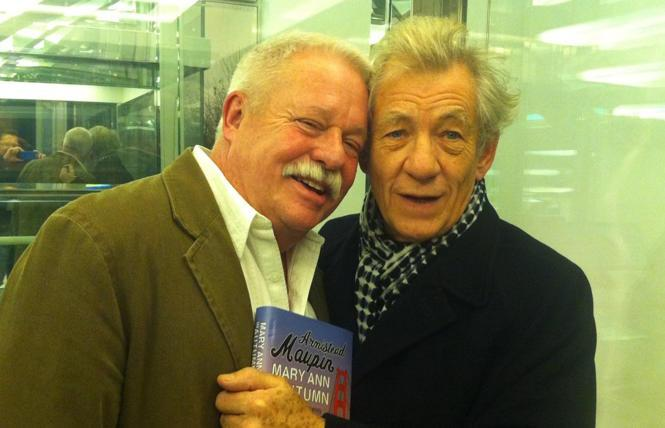 Armistead Maupin and Ian McKellen in 2010. photo: Christopher Turner