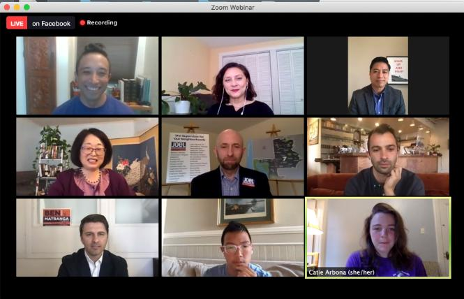 Candidates for District 7 supervisor squared off in a virtual forum August 6 that was held by the Alice B. Toklas LGBT Democratic Club. Photo: Screenshot via Zoom