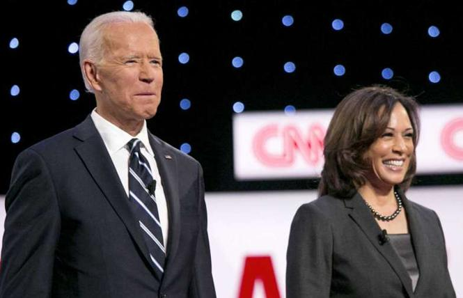 Presumptive Democratic presidential nominee Joe Biden has selected Kamala Harris as his running mate. Photo: Courtesy Bloomberg