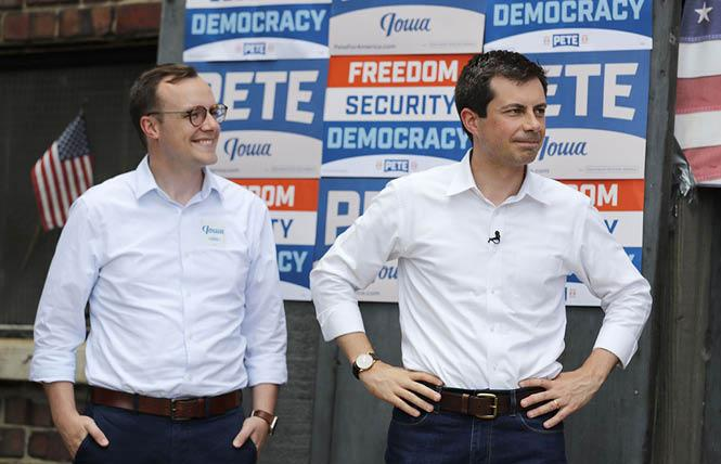 Chasten and Pete Buttigieg will receive the Trailblazer Award from Equality California at its virtual fundraiser next month. Photo: Courtesy AP