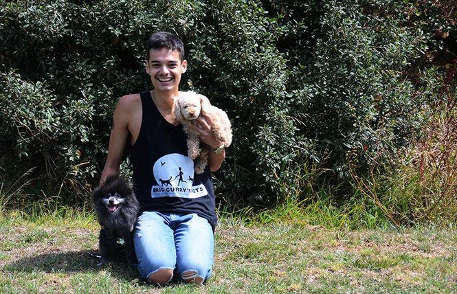 Eric Curry visited McLaren Park recently with his dogs Prince and Penny. Photo: Rick Gerharter