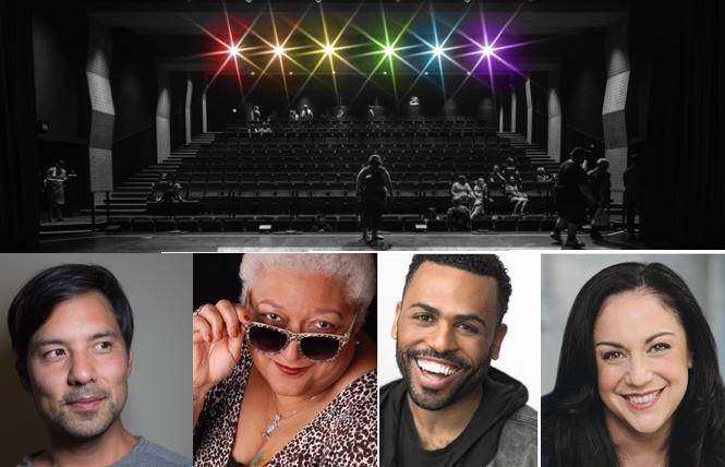 Jewelle Gomez, James Arthur M. and Elena Ruggiero, part of NCTC's new podcast, 'In Good Company'