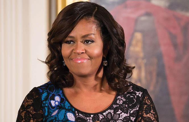 Former first lady Michelle Obama will address the virtual Democratic National Convention Monday night. Photo: Courtesy Entertainment Tonight