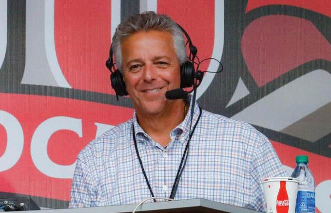 Cincinnati Reds broadcaster Thom Brennaman was suspended over his on-air use of an anti-gay slur during a game Wednesday. Photo: Courtesy CNN