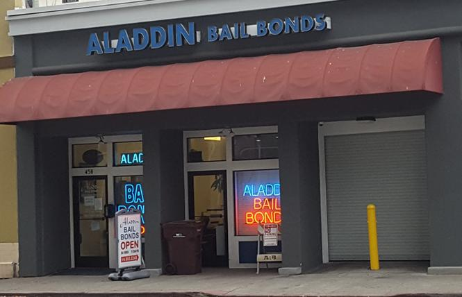 Aladdin Bail Bonds is leading the fight against Prop 25, which would end cash bail in California. Photo: Cynthia Laird