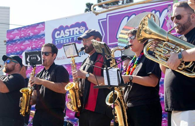 The San Francisco Lesbian/Gay Freedom Band was one of many arts organizations that received 2021 funding from Grants for the Arts. Photo: Courtesy Castro Street Fair