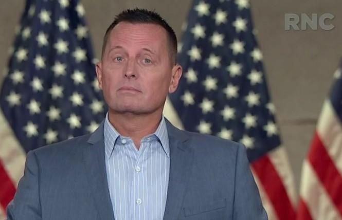 Richard Grenell addressed the Republican National Convention Wednesday. Photo: Screengrab courtesy RNC