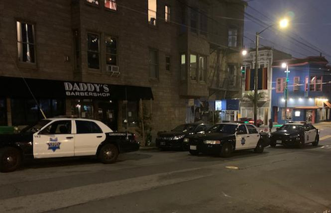 San Francisco police responded to a reported burglary in the Castro August 31. Photo: Sari Staver