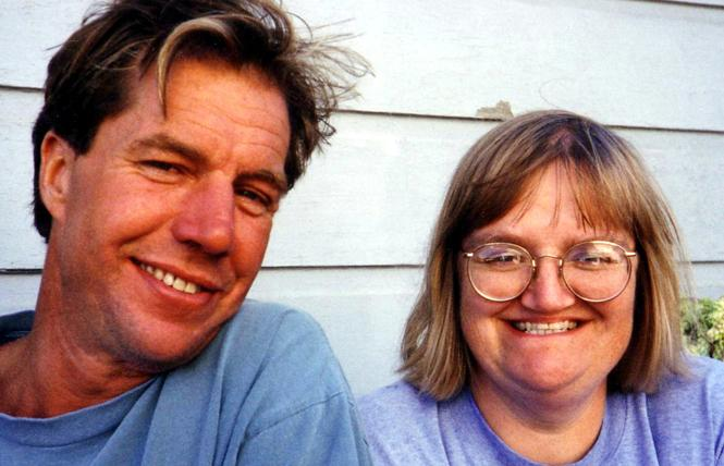 Sister Ruth Hall, right, with contractor Jim Spotts, during a 1994 remodel of the Family Link home. Photo: Courtesy the Family Link