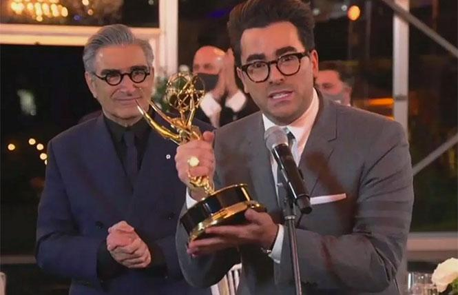 Schitt's Creek co-creator and actor Dan Levi wins en Emmy at a Toronto-based portion of the virtual 2020 Emmys.