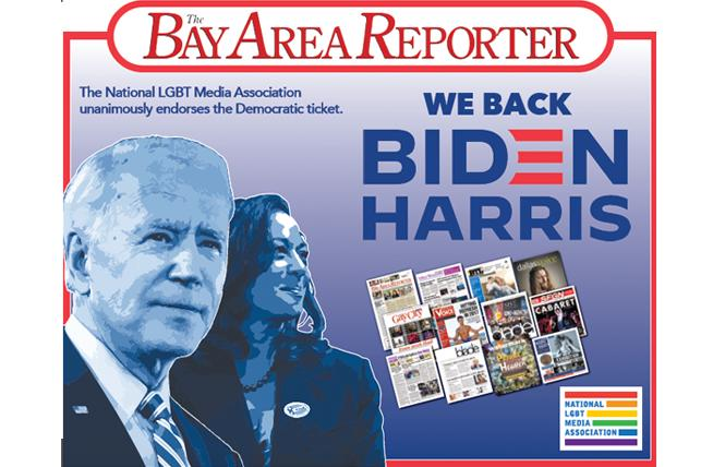 The 12 LGBTQ newspapers that make up the National LGBT Media Association have done a joint endorsement of Joe Biden and Kamala Harris.
