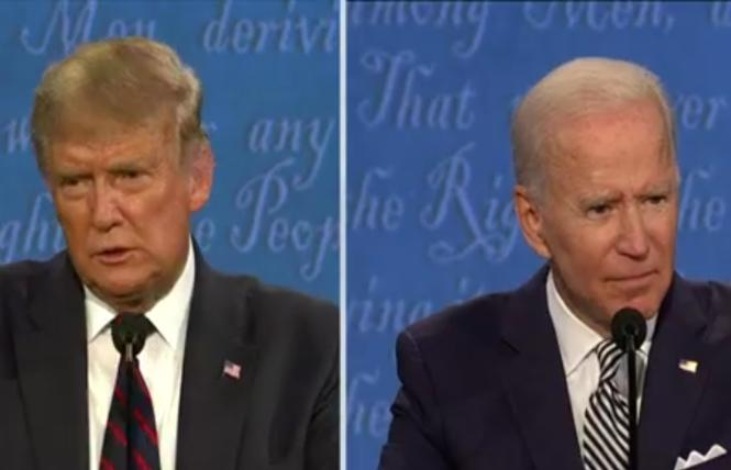President Donald Trump and former Vice President Joe Biden squared off in the first presidential debate Tuesday in Cleveland, Ohio. Photo; Screengrab via CNN
